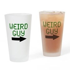 Weird Guy Drinking Glass