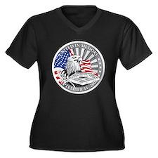 9/11 Women's Plus Size V-Neck Dark T-Shirt