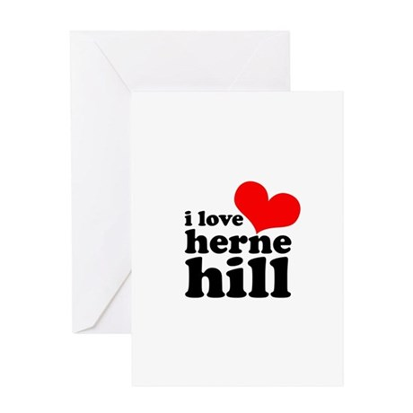 i love herne hill Greeting Card