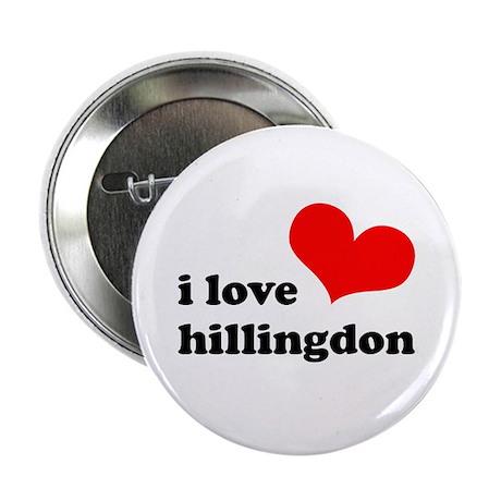 "i love hillingdon 2.25"" Button (100 pack)"