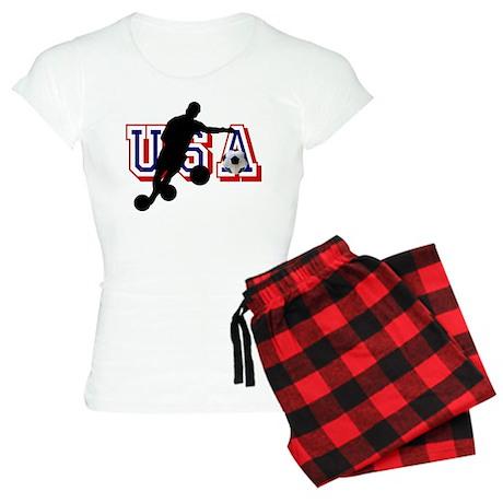 USA Soccer Player Women's Light Pajamas