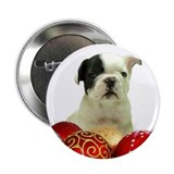 French bulldog christmas Buttons