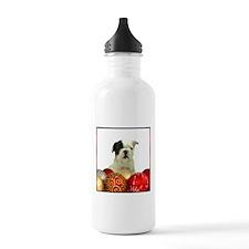 Christmas French Bulldog Water Bottle