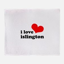 i love islington Throw Blanket