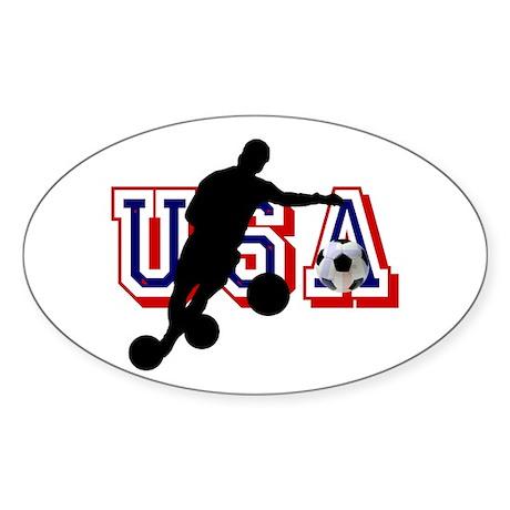 USA Soccer Player Sticker (Oval 50 pk)