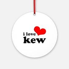 i love kew Ornament (Round)
