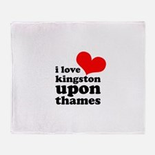 i love kingston upon thames Throw Blanket