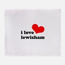 i love lewisham Throw Blanket