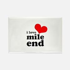 i love mile end Rectangle Magnet