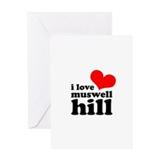 i love muswell hill Greeting Card