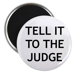 TELL IT TO THE JUDGE! Magnet