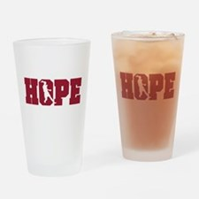 Unique Hope solo Drinking Glass