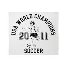 Cute Usa women's soccer champions 2011 championship. he Throw Blanket