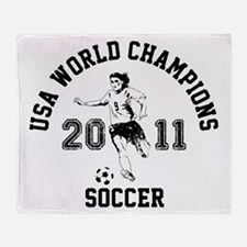 Unique Usa womens soccer champions 2011 championship he Throw Blanket