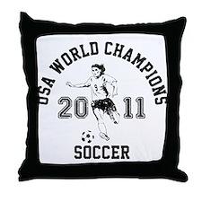 Cool Usa womens soccer Throw Pillow