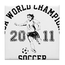 Funny Usa womens soccer Tile Coaster