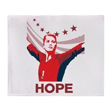 Unique Usa womens soccer Throw Blanket