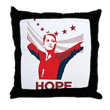 Funny Usa womens soccer Throw Pillow