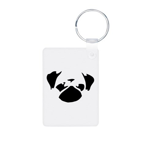 Cutie Pug Aluminum Photo Keychain