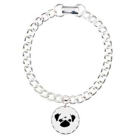 Cutie Pug Charm Bracelet, One Charm