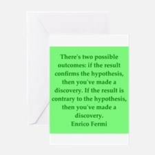 Enrico Fermi quotes Greeting Card