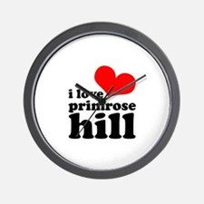 i love primrose hill Wall Clock