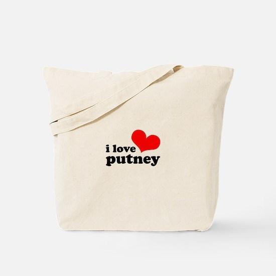 i love putney Tote Bag