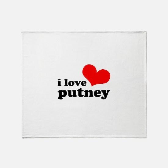 i love putney Throw Blanket