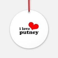 i love putney Ornament (Round)