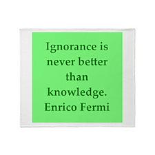 Enrico Fermi quotes Throw Blanket