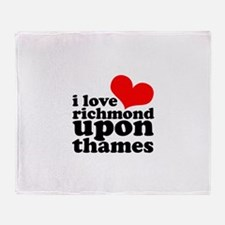 i love richmond upon thames Throw Blanket