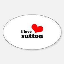 i love sutton Decal
