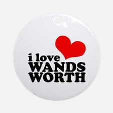 i love wandsworth Ornament (Round)
