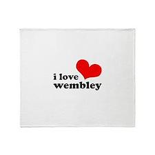 i love wembley Throw Blanket