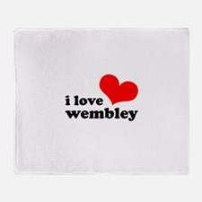 i love wembley Throw Blanket