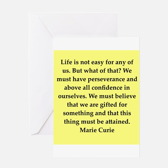 pierre and marie currie quote Greeting Card