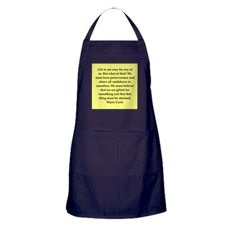 pierre and marie currie quote Apron (dark)