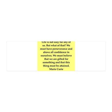 pierre and marie currie quote 42x14 Wall Peel