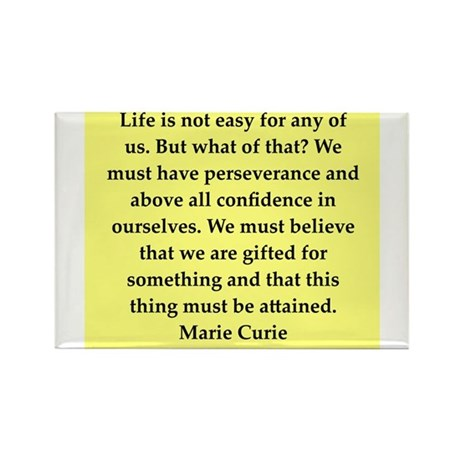 pierre and marie currie quote Rectangle Magnet