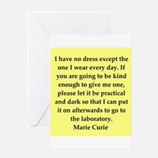 pierre and marie curie quote Greeting Card