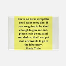pierre and marie curie quote Rectangle Magnet