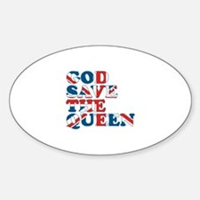 god save the queen (union jac Decal
