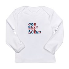 god save the queen (union jac Long Sleeve Infant T