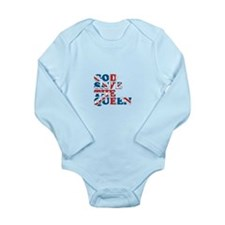 god save the queen (union jac Long Sleeve Infant B