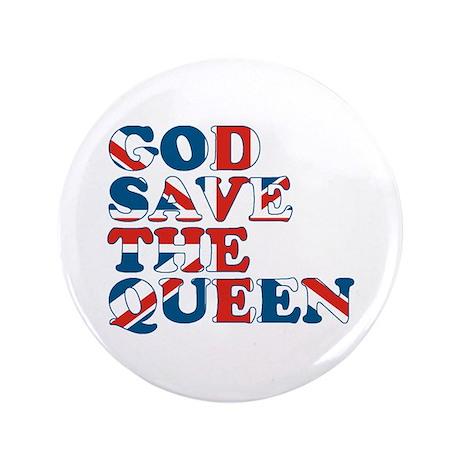 "god save the queen (union jac 3.5"" Button"