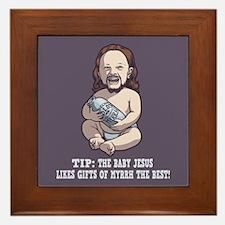 Baby Jesus -Myrrh Framed Tile