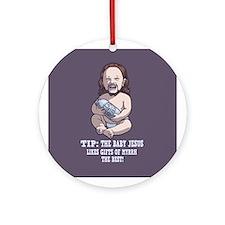Baby Jesus -Myrrh Ornament (Round)