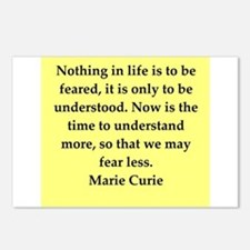 pierre and marie curie quote Postcards (Package of