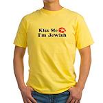 Kiss Me I'm Jewish Yellow T-Shirt