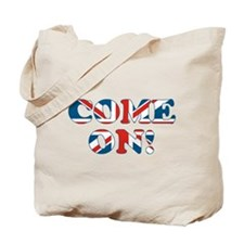 come on (union jack) Tote Bag